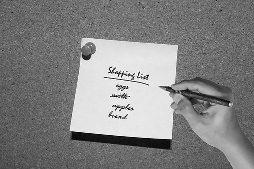 Shopping List, Grocery List, List, Grocery, Food