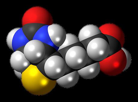 Biotin, Spacefill, B, Vitamin, Model, Molecule
