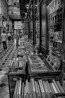 Bookseller, Bookstore, Gallery, Books, Paris, Book