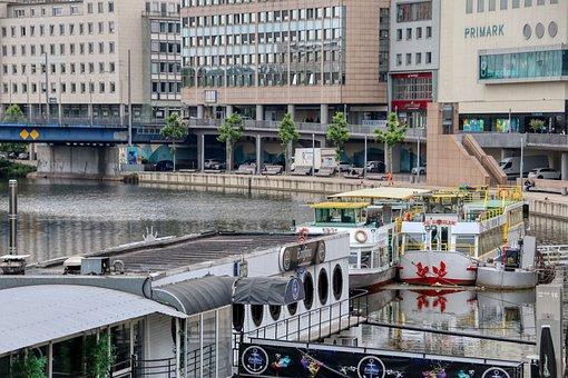 Saar, Ships, River, Saarbrücken, Water, Saarland