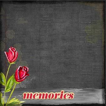 Retro, Vintage, Memories, Roses, Watercolor, Design