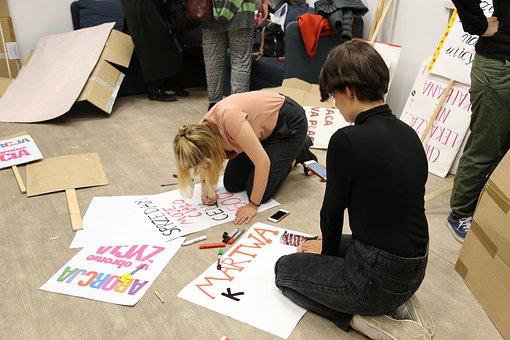 Activism, Women, Demo, A Manifestation Of, Protest