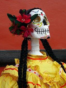 Mexico, Catrina, Day Of The Dead, Animas, Skeleton