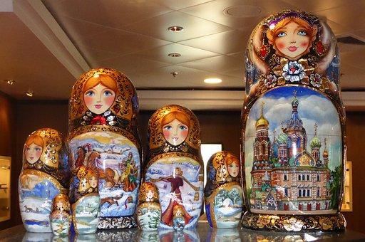 Dolls, Russia, Women, Manual Labor, Art Object