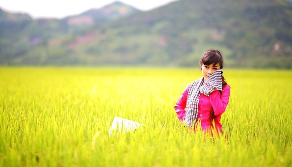 Countryside, Asian Girl, Girl, Asian, Female, People