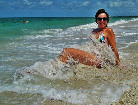 Swim, Beach, Florida, Fun Bathing, Sea, Wave