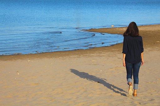 Beach, Water, Summer, Sand, Travel, Happy, Girl, Nature