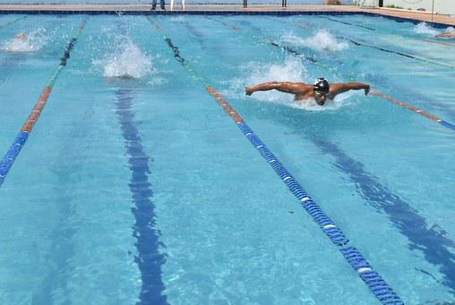 Competition, Swimming, Competing, Butterfly