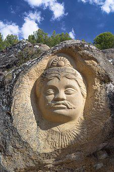 Face, Sculpture, Stone, Buddha, Carving, Portrait
