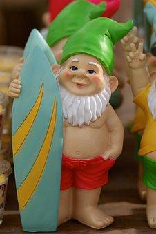 Garden Gnome, Colorful, Oblique, Dwarf, Flashy