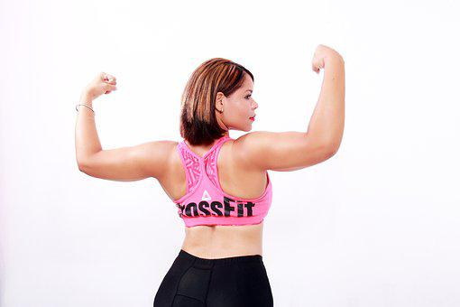 Women, Strong, Exercise, Crossfit, Arms, Biceps