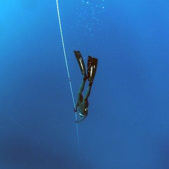 Freediving, Deep, Underwater, Water, Diver, Depth