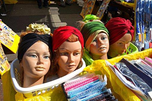 Head, Doll, Model, Woman Head, Hat Model, Fashion