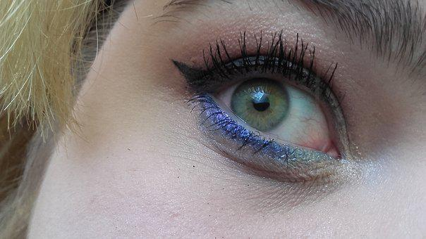 Eye, Makeup, Lady, Eyes, Face, Color, Girl, Paint