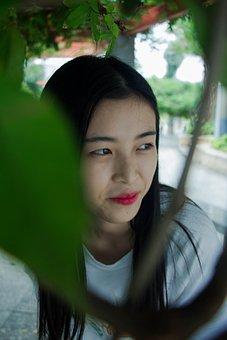 Girls, Fresh, Literature And Art, Tree, Face, Tibetan
