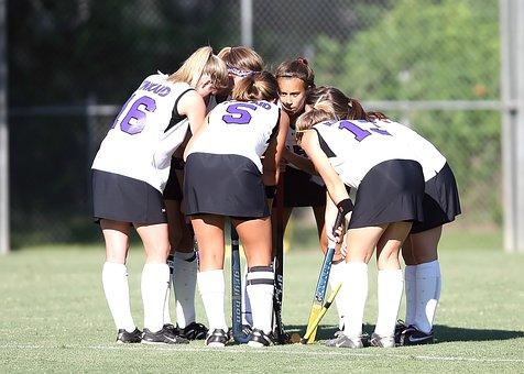 Field Hockey, Team, Girls, Athlete, Sport, Hockey Stick