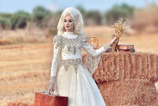 Bag, Women's, Hay, Field, Yellow, Book, Bridal