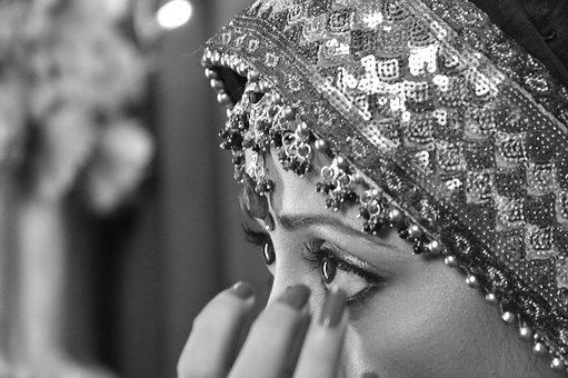 Wedding, Women, Girls, Eyes, Cry, Indian