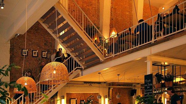 Cafe, Restaurant, Interior, Public Space, Indoor