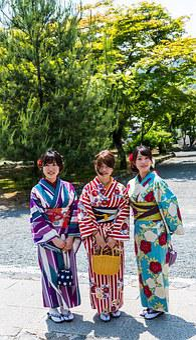Japan, Kyoto, People, Person, Women, Kimono, Happy