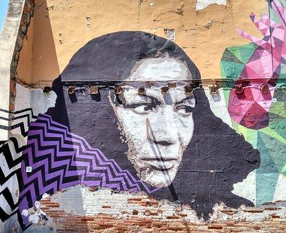Wall, Painted, Street Art, Barcelona, Look, Spain