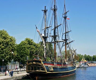 The Ship, Sailing Ship, Ship, Boat, Monument, Ships