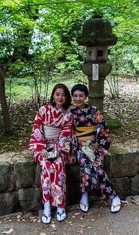 Japan, People, Person, Girl, Women Young, Kimono, Asian