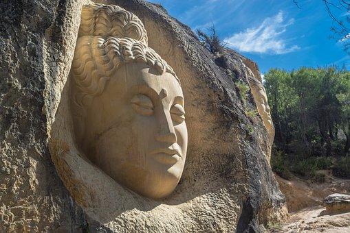 Face, Sculpture, Stone, Buddha, Carving, Portrait