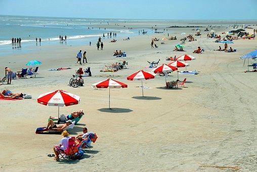 Beach Day, People, Fun, Recreation, Leisure