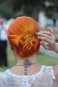 Bridal, Wedding Dress, Woman, Wedding, Red, Red Hair