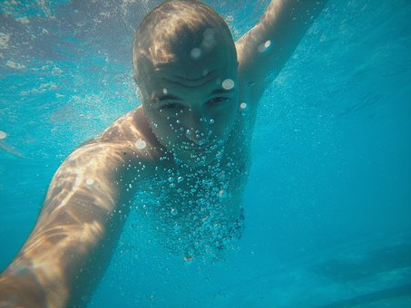 Gopro, Underwater, Pool, Blue, Water, Reef, Animal