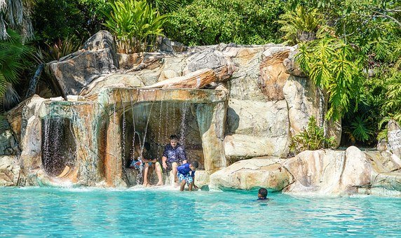 Belize, Person, People, Boy, Slide, Rock, Cave