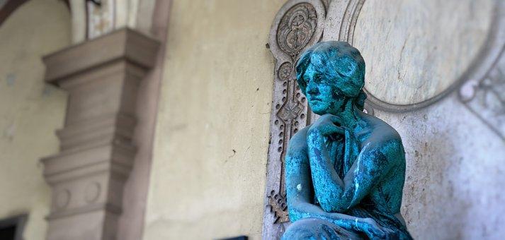Statue, Woman, Female, Sculpture, Travel, City