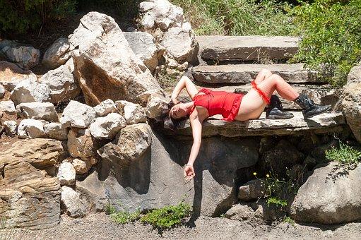 Woman, Sensual, Red, Sensuality, Body, Legs