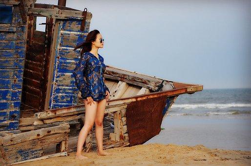 Beauty, Sky, Beach, The Scenery, Cloud, The Rough Sea