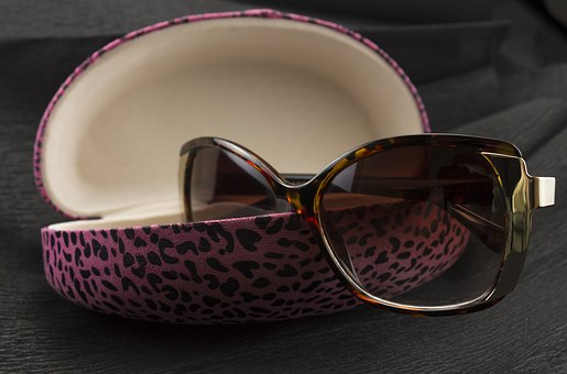 Eyewear, Solar, Pink Glasses Container, Design, Product