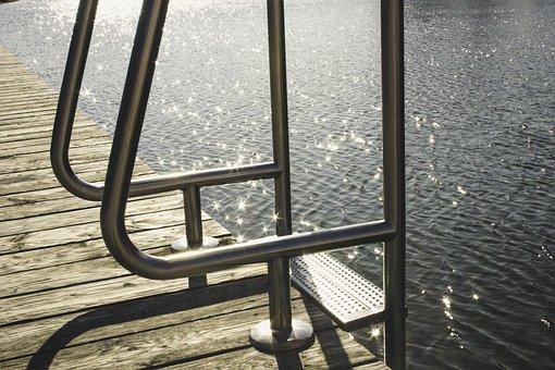 Lake, Swim, Head, Water, Water Surface, Summer