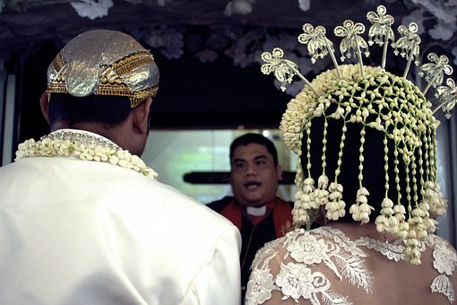 Wedding, Java, Church, Priest, Traditional, Indonesian