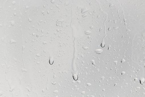 Drop Of Water, Run Off, Rain, Window, Beaded, Raindrop