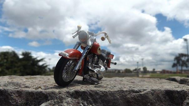 Moto, Sky, Park, Rock, Floor, Air, Free, Blue, Red