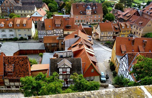 Perspective, City, Roofs, Truss, Architecture, Building