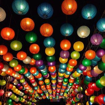 Lampions, Lanterns, Chinese, Colorful, Asia, China