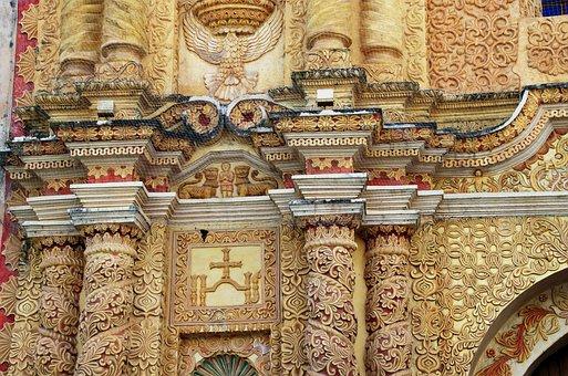 Mexico, Chiapas, San Cristobal, Church, Facade