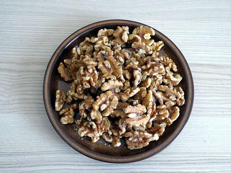 Nuts, Walnuts, Food, Healthy, Fruit Bowl, Close