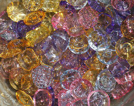 Colorful Acrylic Buttons, Buttons, Colorful, Craft