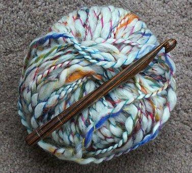 Yarn, Variegated, Crochet, Bulky, Craft, Handmade