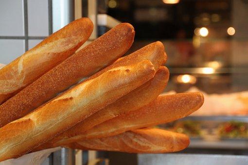 Baguette, Bread, Food, Eat, Bake, Baked, Staple Food