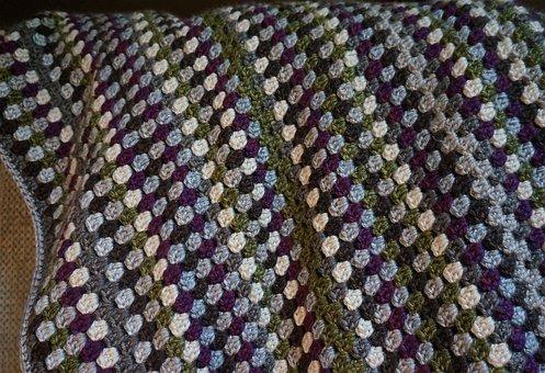 Crocheted Afghan, Yarn, Crochet, Afghan, Fiber Arts