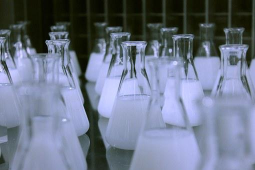 Flasks, Erlenmeyer, Chemistry, Laboratory, Science