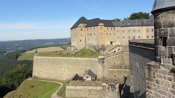 Fortress, Königstein, Sandstone Mountain, Castle